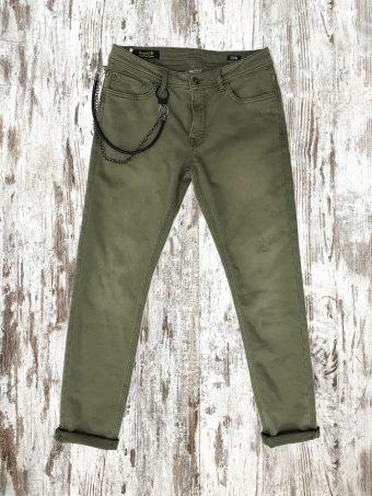 A20PJ005   0071 OTARU SLIM FIT - 93%CO 5%PL 2%EA Military Green