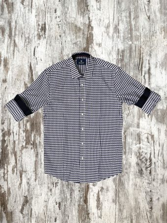 A20S008    5002 SHIRT KENNY - 100%CO Optical White - Dark Blue