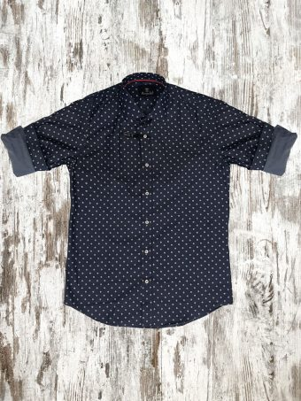 A20S017    0002 SHIRT MEATH - 97%CO 3%EA Dark Blue