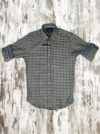 A20S018    0002 SHIRT LONGFORD - 97%CO 3%EA Dark Blue