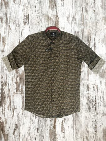 A20S027    0040 SHIRT FERMANAGH - 97%CO 3%EA Brown