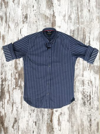 A20S028    0085 SHIRT ARMAGH - 97%CO 3%EA Smoke Blue