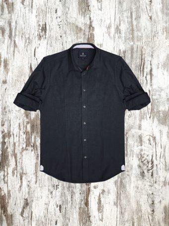 A20S033    0090 SHIRT OXFORD - 100%CO OXFORD Black