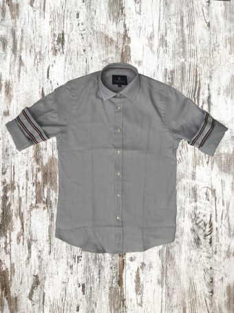 A20S035    0061 SHIRT CARLINGFORD - 100%CO YARN DYED Gray