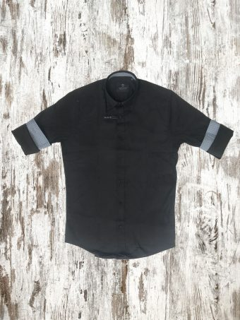 A20S037    0090 SHIRT BASIC - 98%CO 2%EA Black