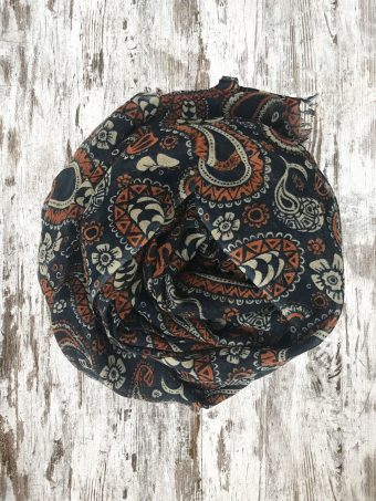 A20SC002   0002 SCARF GEORGE - 100%WO Dark Blue