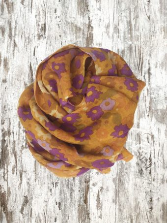 A20SC005   0029 SCARF CESAR - 100%WO Spicy Orange
