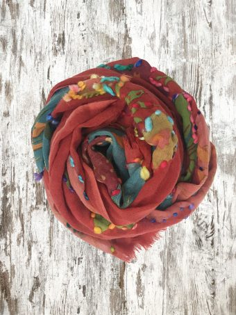 A20SC009   0094 SCARF KEVIN - 100%WO Chili Pepper Red
