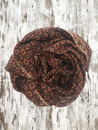 A20SC011   0018 SCARF DAVID - 100%WO Brown Burnt