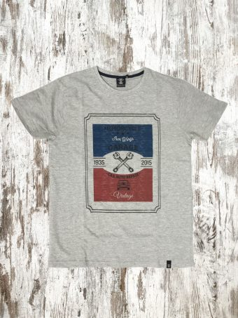 A20T009    0037 T-SHIRT GARAGE - 100% JERSEY CO 30/1 PEACHED OUTSIDE Gray Melange