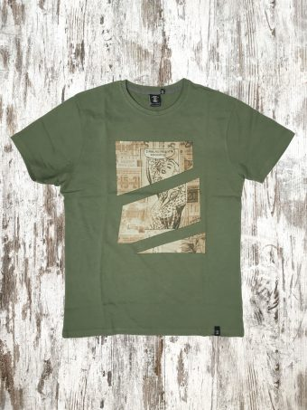 A20T012    0071 T-SHIRT FREE - 100% JERSEY CO 30/1 PEACHED OUTSIDE Military Green
