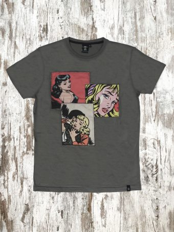 A20T013    0001 T-SHIRT CARTOON - 100% JERSEY CO 30/1 PEACHED OUTSIDE Anthracite
