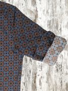 A20S014    0294 SHIRT GALWAY - 97%CO 3%EA Dark Blue - Red Chili Pepper