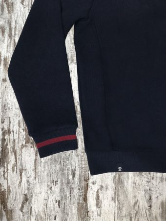 A20F001    0002 FLEECE BASIC NEW YORK - 50%CO 50%PL Dark Blue