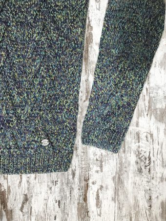 A20M027    3920 SWEATER CHESTER - 70%AC 30%WO Grape - Light Green