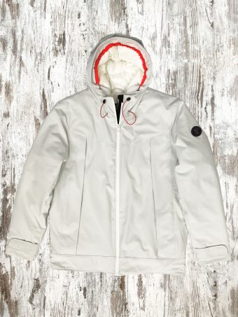 A20J030    0050 RAIN JACKET LONG - 100%PL Optical White