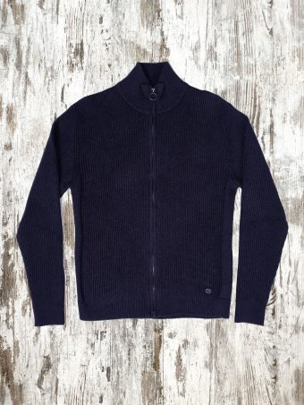 A20M032    0002 SWEATER ZIP TURTLENECK - 100%CO Dark Blue