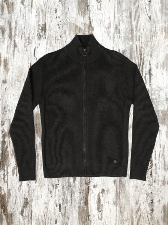 A20M032C   0001 SWEATER JACKET - 72%CO 18%WO 10%NY Anthracite