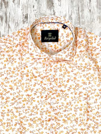S21S010    3150 SHIRT PRIMOSE - 100%VOILE Optical White - Yellow Mimosa