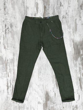 S21P022    0071 CHINO LINO - 100%LI Military Green