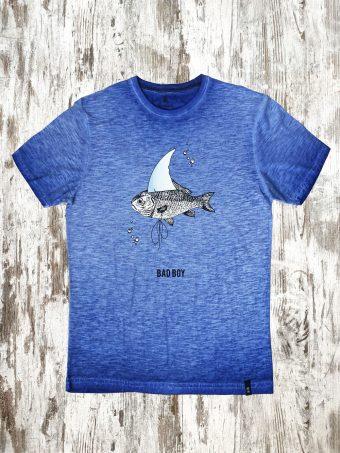 S21T015    0028 T-SHIRT BAD - 100%CO Dazzling Blue