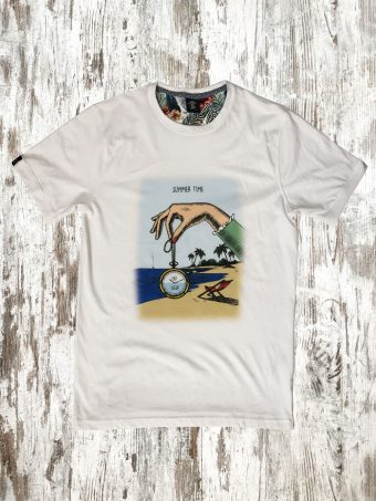 S21T016    0050 T-SHIRT TIME - 100%CO Optical White