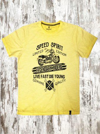 S21T030    0010 T-SHIRT SPIRIT - 100%CO SLUB Yellow