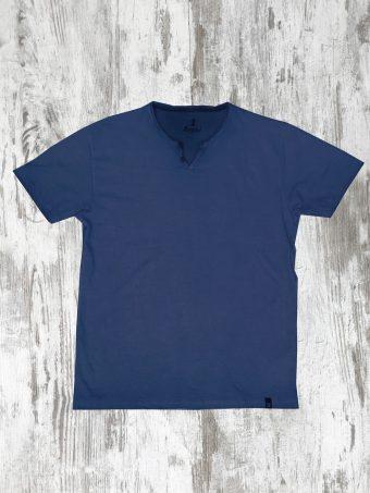 S21T050    0002 T-SHIRT VINTAGE - 100% CO Dark Blue