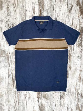 S21MPS008  0002 POLO BAND - 100%CO Dark Blue