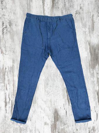 S21P022J   0072 JOGGER CHINO LINO - 100%LI French Blue