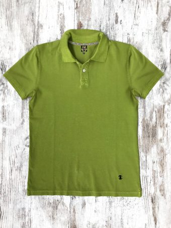 S21PS004X  0101 POLO STONE - 95%CO 5%EL PIQUET Green Cactus