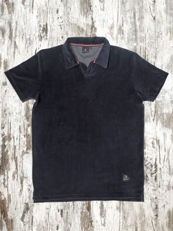 S21PS007   0002 POLO SPONGE - 75%CO 25%NY Dark Blue