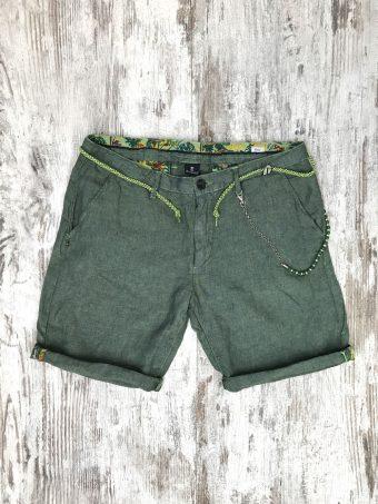 S21SH022   0071 CHINO SHORT LINO - 100%LI Military Green