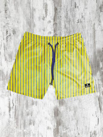 S21SW004   0010 SWIMSUIT STRIPES - 100%NY Yellow
