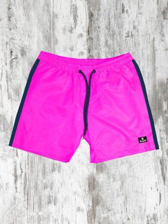 S21SW010   0066 SWIMSUIT BASIC - 100%NY Pink Flamingo