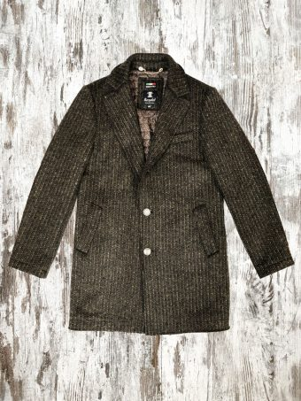A21J018    0040 OVERCOAT ANSON - 40%WV - 60%PL Coffee Brown
