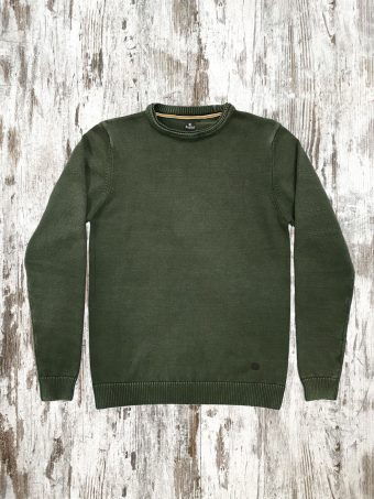 A21M005    0071 SWEATER MAGNUS - 100%CO Military Green