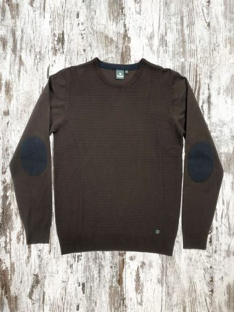 A21M009    0040 SWEATER MANNY - 50%VI - 50%NY Coffee Brown