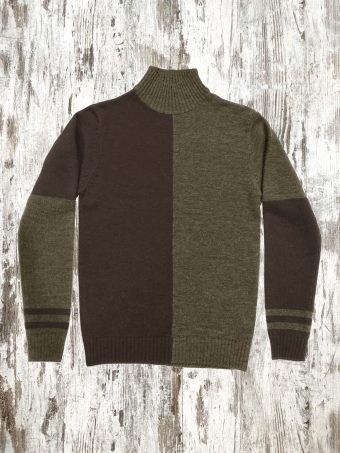 A21M020    4069 SWEATER MOSS - 85%AC - 15%NY Coffee Brown - Squirrel Cord