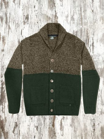 A21M023X   6957 CARDIGAN MAX (WITHOUT BREAKAGES) - 85%AC- 15%NY Squirrel Cord - Dark Green Jungl