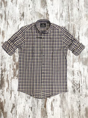 A21S003X   0064 SHIRT JACK (WITHOUT SIDE BANDS) - 100%CO Blue Navy
