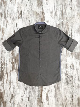A21S007    0001 SHIRT JAMES - 100%CO Anthracite