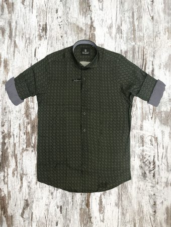 A21S013    0071 SHIRT SIMON - 100%VI Military Green