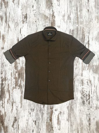 A21S015X   0075 SHIRT FEB (WITHOUT SIDE BANDS) - 97%CO - 3%EA Beige Walnut