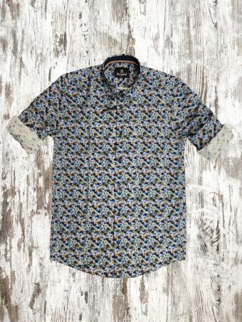 A21S018X   0045 SHIRT ROBERT (WITHOUT SIDE BANDS)  - 97%CO - 3%EA Light Blue