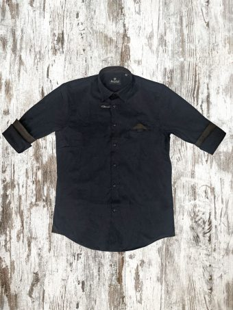 A21S022    0064 SHIRT WIL - 97%CO - 3%EA Blue Navy