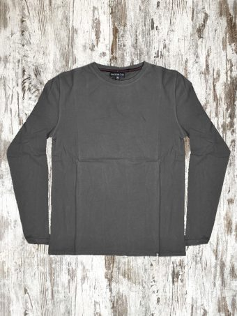 A21T055L   0001 T-SHIRT BASIC LONG SLEEVES - 100% JERSEY CO 30/1 PEACHED OUTSIDE Anthracite